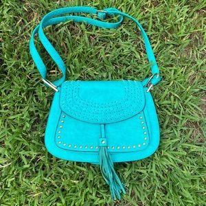 Stylish Blue Boho Bag
